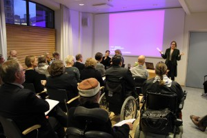 Article 31 of the Convention calls to collect appropriate information, including statistical and research data. Photo: Seminar on the occasion of publication of the World Report on Disability.